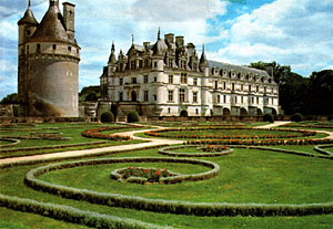 Side View of Chenonceau Castle